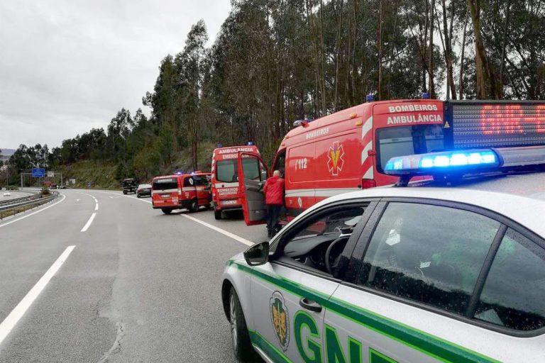 Menos 23 acidentes e menos 54 feridos nas autoestradas portuguesas em 2019